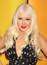 Christina Aguilera was all about the glamour at the 2011 NBC Upfront event with radiant red lipstick.