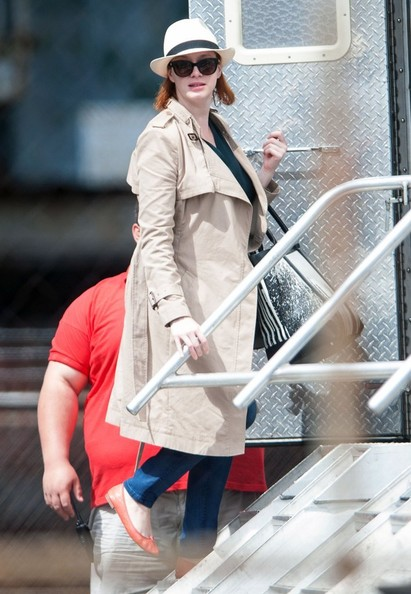 More Pics of Christina Hendricks Trenchcoat (3 of 11) - Christina Hendricks Lookbook - StyleBistro