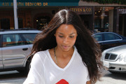 Singer Ciara leaves a medical building on Bedford Blvd in Beverly Hills.