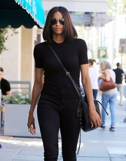 Ciara kept a low profile with a pair of aviator sunglasses while strolling in Beverly Hills.