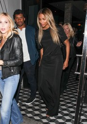 Ciara chose a simple yet stylish black maxi dress for a date night.