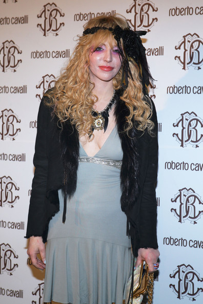 Courtney Love Long Curls with Bangs