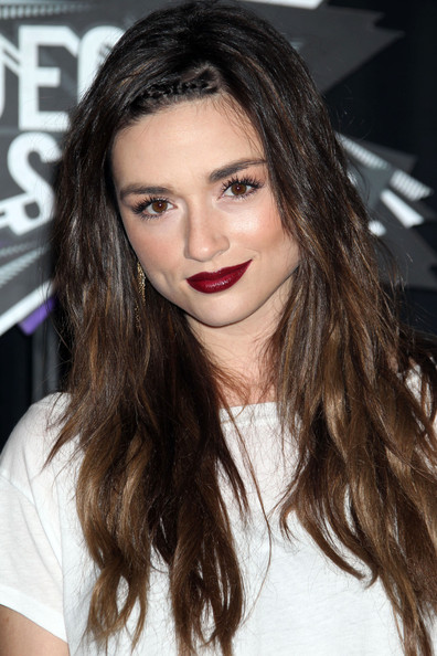 Crystal Reed Dark Lipstick