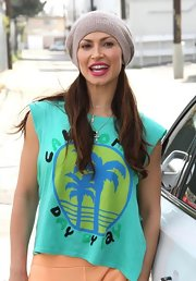 Karina Smirnoff wore this 'California Day by Day' top to her dance rehearsal for 'Dancing with the Stars.'