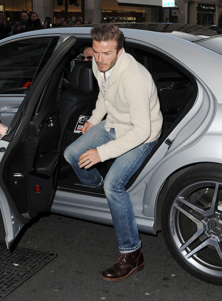 More Pics of David Beckham Lace Up Boots (5 of 8) - David Beckham Lookbook - StyleBistro