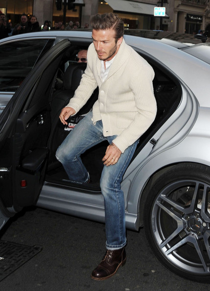 David Beckham Lace Up Boots