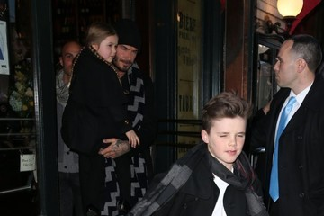 David Beckham Cruz Beckham Victoria and David Beckham Take Their Kids to Dinner after the Victoria's Fashion Show