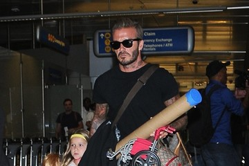 David Beckham Harper Beckham David Beckham & Family Depart From LAX Airport