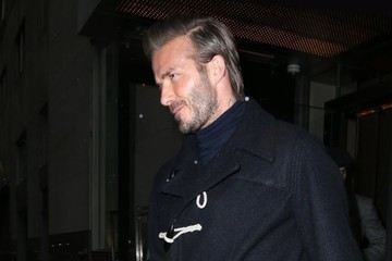 David Beckham Harper Beckham David Beckham With His Kids In NYC