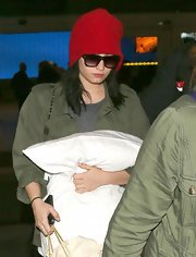 Demi Lovato attempted to go incognito but this bright red beanie drew all eyes to her!