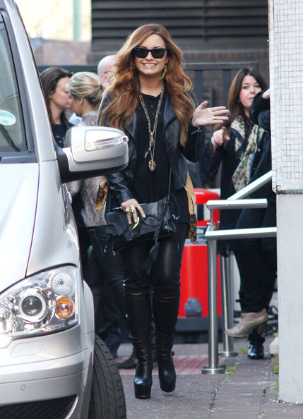 Demi Lovato Knee High Boots