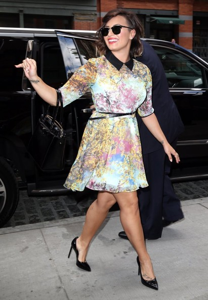 Demi Lovato Print Dress