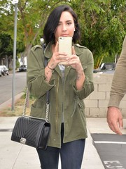 Demi Lovato stepped out in West Hollywood carrying a chevron quilted bag by Chanel.