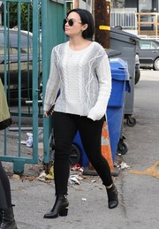Demi Lovato was spotted out in West Hollywood wearing an ombre cable-knit sweater by Derek Lam 10 Crosby.