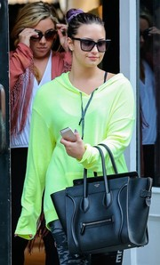 Demi Lovato headed out in New York City wearing a pair of square shades.