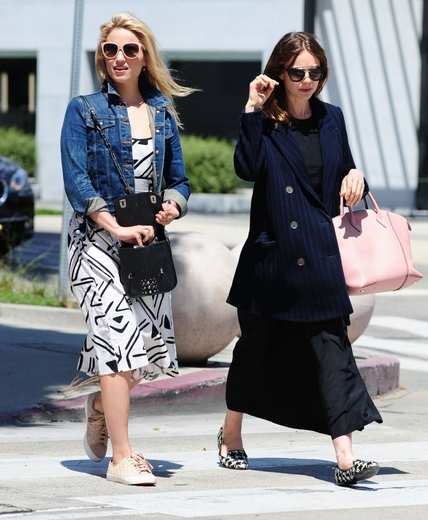 Dianna Agron Spotted Out In West Hollywood