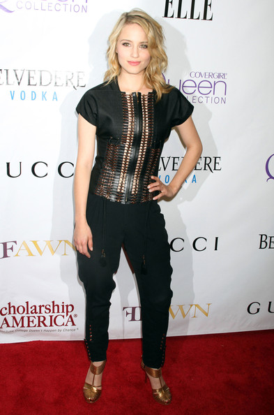 Dianna Agron Fitted Blouse