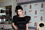 Dita Von Teese launches her limited edition set of 'My Private Cointreau Coffret' at Fred Segal in West Hollywood.