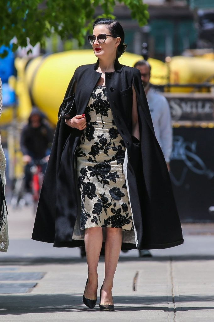 Dita Von Teese Takes a Stroll in NYC