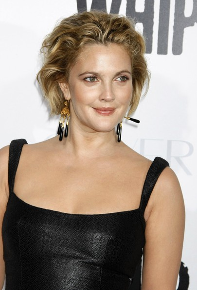 Drew Barrymore Messy Cut