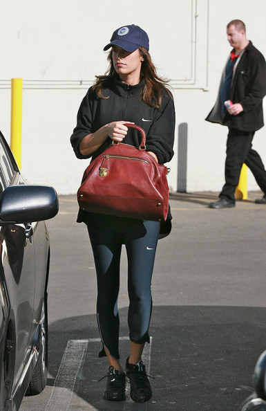 More Pics of Elisabetta Canalis Leather Bowler Bag (1 of 9) - Elisabetta Canalis Lookbook - StyleBistro