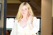 Elle Fanning Printed Shoulder Bag