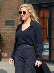 Ellie Goulding accessorized with a pair of round shades while out in New York City.