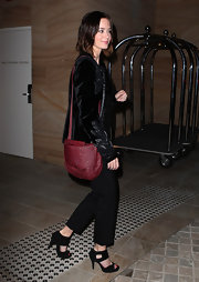 Emily Blunt went out for an evening in Sydney wearing a pair of Cheryl heels in black