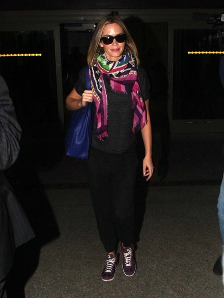 Emily Blunt Patterned Scarf