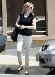 Some time you just gotta keep it simple with a tee like Emma Roberts'.