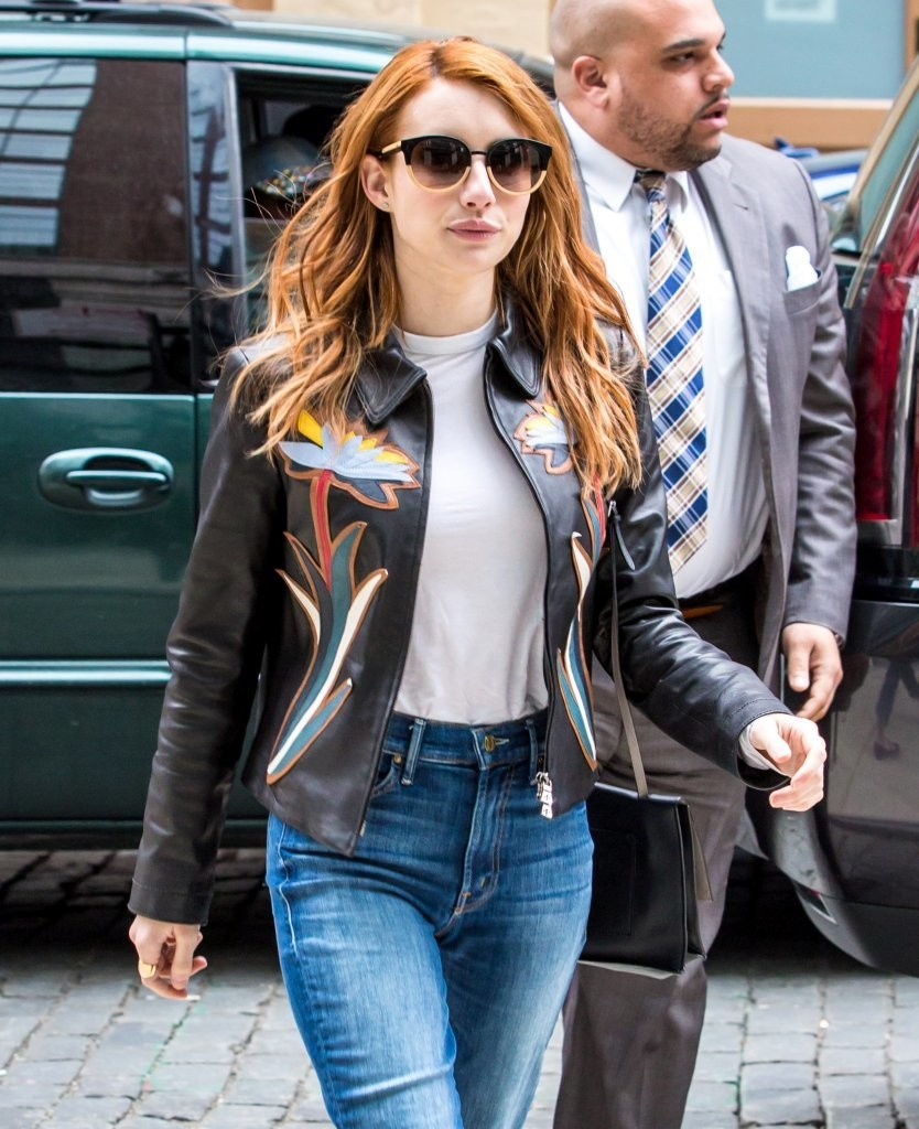 More Pics Of Emma Roberts Leather Jacket 6 Of 8 Leather Jacket Lookbook Stylebistro