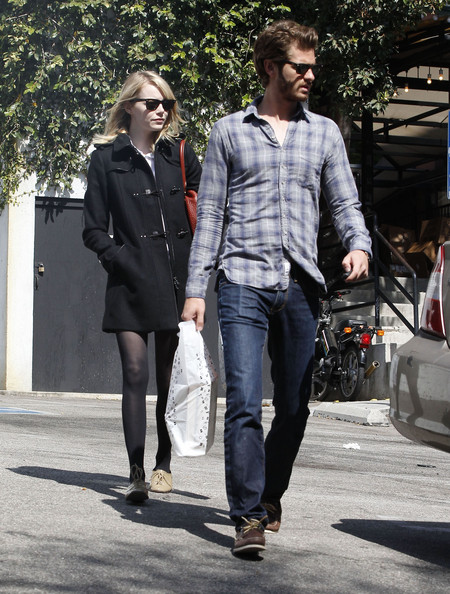 More Pics of Emma Stone Leather Lace-ups (4 of 22) - Emma Stone Lookbook - StyleBistro