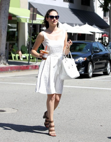 More Pics of Emmy Rossum Strappy Sandals (1 of 44) - Strappy Sandals Lookbook - StyleBistro []