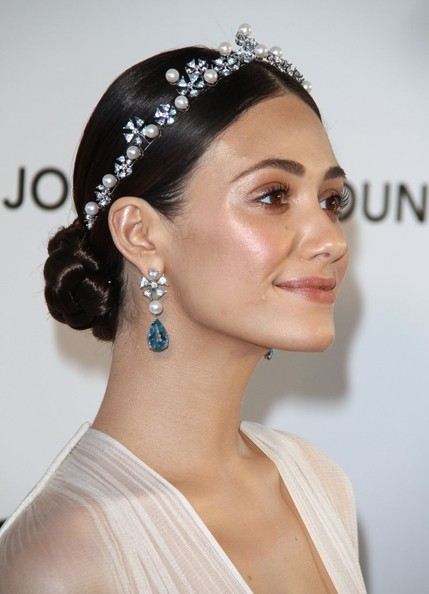 Emmy Rossum Braided Bun