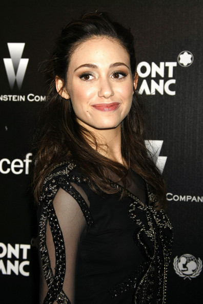 Emmy Rossum Half Up Half Down
