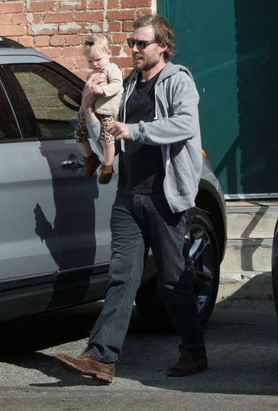 Eric Johnson & Daughter Maxwell Running Errands In Los Angeles