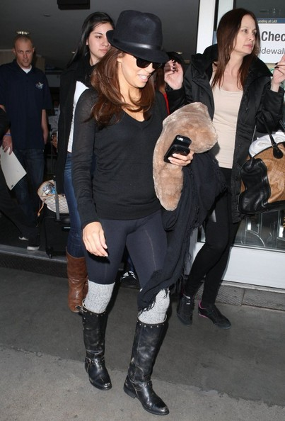 More Pics of Eva Longoria Motorcycle Boots (5 of 13) - Eva Longoria Lookbook - StyleBistro
