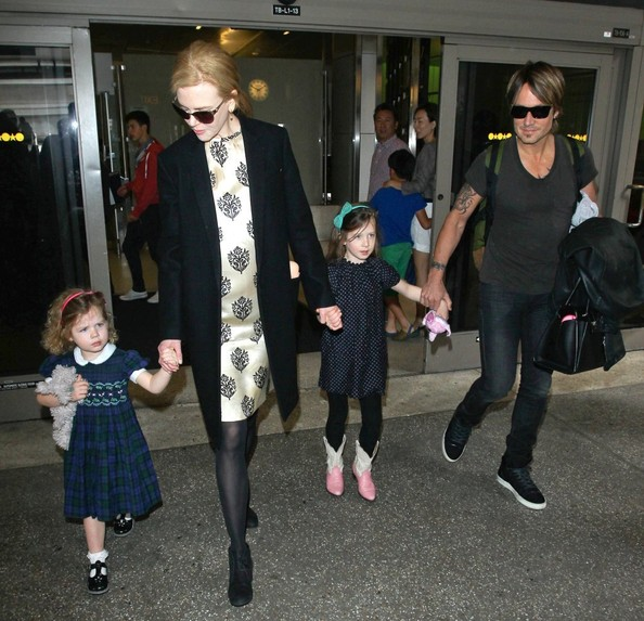 Nicole Kidman and Family at LAX