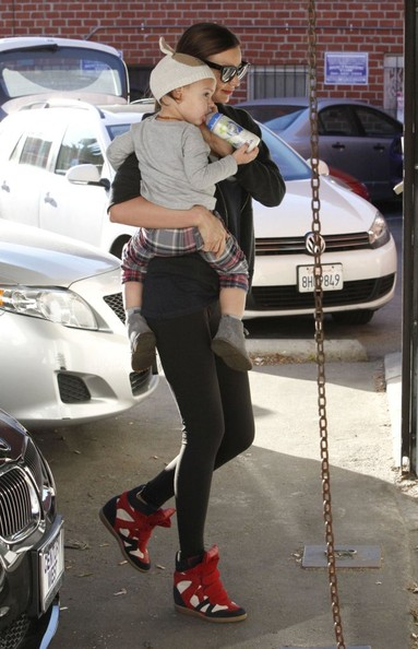 Miranda Kerr And Son Flynn At A Gym In Beverly Hills