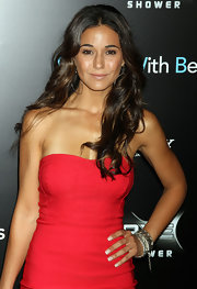 Emmanelle Chriqui accessorized her sexy red mini with a silver Mumbai Bracelet for the 'Friends with Benefits' premiere. This particular piece was part of a charity collaboration.