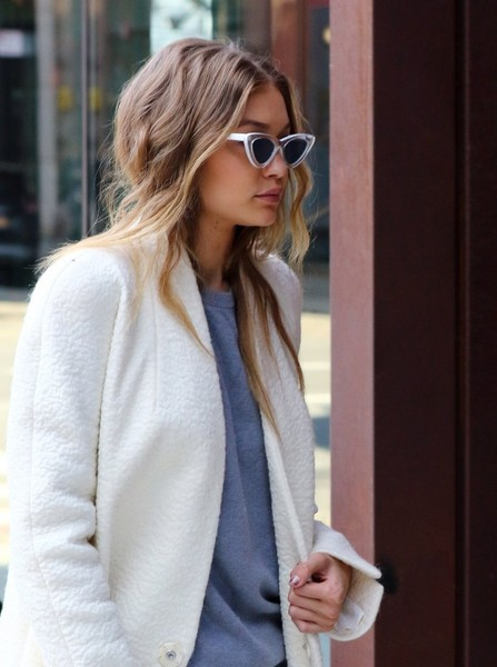 More Pics of Gigi Hadid Cateye Sunglasses (1 of 46) - Gigi Hadid Lookbook - StyleBistro