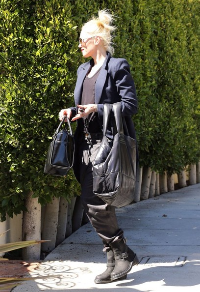 More Pics of Gwen Stefani Leather Bowler Bag (1 of 12) - Leather Bowler Bag Lookbook - StyleBistro