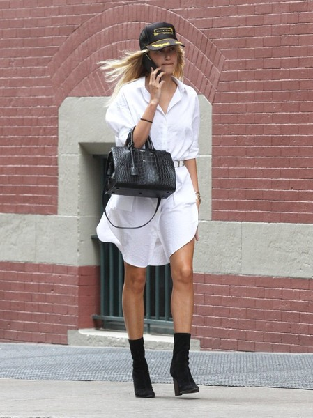 Hailey Bieber Shirtdress
