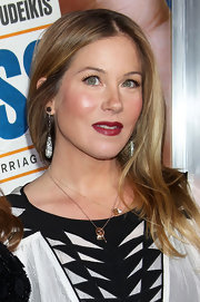 Christina Applegate wore decadent diamond earrings to the premiere of 'Hall Pass.'