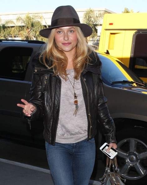 More Pics of Hayden Panettiere Leather Jacket (1 of 18) - Leather Jacket Lookbook - StyleBistro