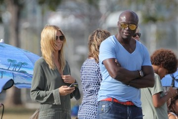 Heidi Klum Seal Heidi Klum and Seal Watch Their Son's Football Game
