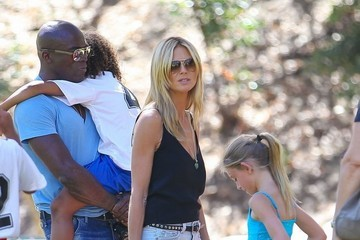 Heidi Klum Seal Heidi Kulm & Seal Watching Their Kids Play Soccer Together
