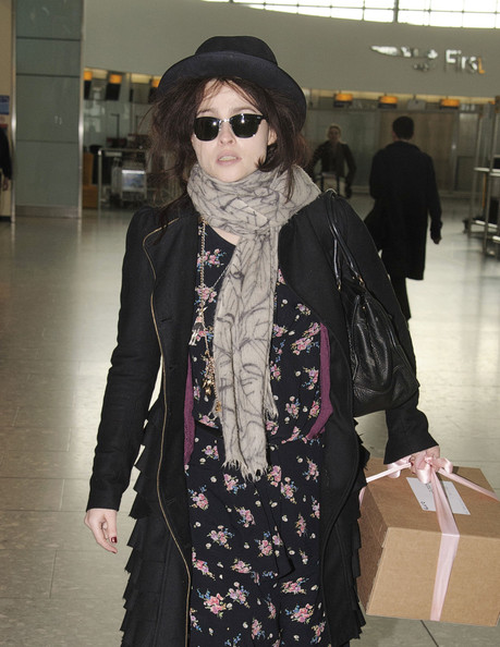 Helena Bonham Carter Patterned Scarf