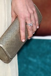 Anne Heche showed off her gold clutch while walking the red carpet at the Hung season 2 premiere.