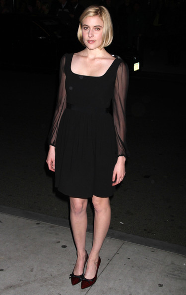More Pics of Greta Gerwig Evening Pumps (1 of 1) - Greta Gerwig Lookbook - StyleBistro